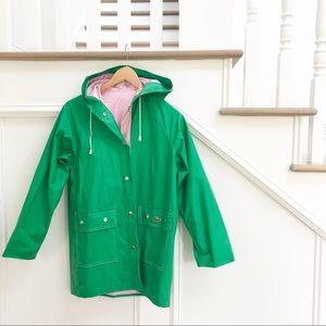 Vintage pink & green Lacoste Rain Coat